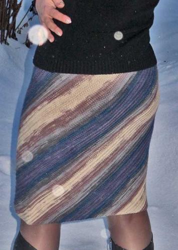 Вязаные юбки спицами юбка